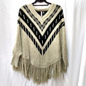 Love by Design Aztec Tribal Poncho sweater